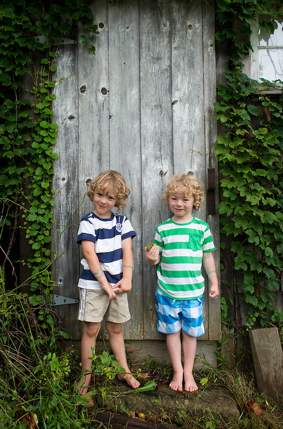 Neils and Sebastian (Bass). Family Portraits. The Barn. Bridgehampton, New York 2012