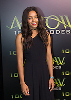 VANCOUVER, BC - OCTOBER 22: Maisie Richardson-Sellers at the 100th episode celebration for tv's Arrow at the Fairmont Pacific Rim Hotel in Vancouver, British Columbia on October 22, 2016. Credit: Michael Sean Lee/MediaPunch