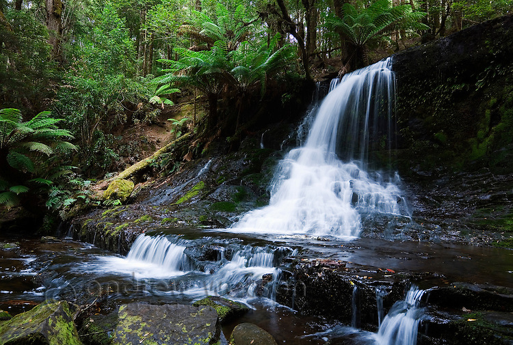 Horseshoe Falls in Mt Field National Park, Tasmania, AUSTRALIA