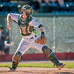 5 September 2016: Vermont Lake Monster catcher Sean Murphy in action against the Lowell Spinners at Centennial Field in Burlington, Vermont. The Lake Monsters defeated the Spinners 9-5 to close out their 2016 NY Penn League season. Mandatory Credit: Ed Wolfstein Photo *** RAW (NEF) Image File Available ***