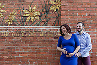 Becky and Dean's maternity photos at the American Tobacco Campus in Durham, NC on Thursday, March 16, 2017. (Justin Cook for The New York Times)