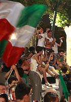 NAPOLI LA DELUSINE DEI TIFOSI DOPO LA FINALE ITALIA SPAGNA<br /> FOTO CIRO DE LUCA