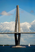 The Cooper River Bridge in Charleston, SC.