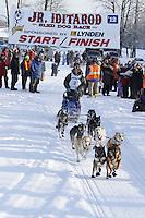Saturday February 25, 2012   at Knik Lake during the Junior Iditarod start.  Ben Harper.