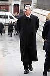 Politician Alberto Ruiz Gallardon arrives to the state funeral for former Spanish prime minister Adolfo Suarez at the Almudena Cathedral in Madrid, Spain. March 31, 2014. (ALTERPHOTOS/Victor Blanco)