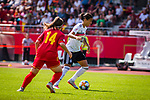 31.08.2019, Auestadion, Kassel, GER, DFB Frauen, EM Qualifikation, Deutschland vs Montenegro , DFB REGULATIONS PROHIBIT ANY USE OF PHOTOGRAPHS AS IMAGE SEQUENCES AND/OR QUASI-VIDEO<br /> <br /> im Bild | picture shows:<br /> Dzsenifer Marozsan (DFB Frauen #10) am Ball, <br /> <br /> Foto © nordphoto / Rauch