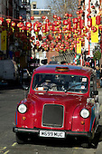 Taxi in London's Chinatown