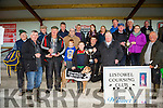 TOBAR NA MOLT winner of the Jet O'Carroll Memorial Cup ALL AGE BITCH STAKE at Listowel Coursing on Sunday owner Fergus Keane, Ardfert