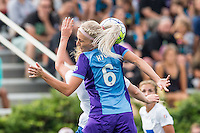 Allston, MA - Sunday July 31, 2016: Kaylyn Kyle, Natasha Dowie during a regular season National Women's Soccer League (NWSL) match between the Boston Breakers and the Orlando Pride at Jordan Field.