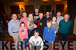 John Collins(abbeyfeale), Aoife Cullane(Abbeyfeale), Eddie Murphy(Abbeyfeaele), Alisha Scannell(Abbeyfeaele), Donal O'Sullivan(Templeglantine), Mike O'Brien(Listowel), Abdrew Scannell(Abbeyfeaele), Keith Cullane(Abbeyfeaele), Emily Collins(Abbeyfeaele), Michael Lane(Abbeyfeaele), Tom O'Shaugnessy (Duagh) and front Peter Collins(Abbeyfeaele) pictured at the Kick Boxing fight night in The Devon Inn, Templeglantine last Saturday night.