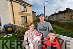 Susan Nolan Jessica, Michael and Joe Rooney  who live next door to a derelict house in O'Connell's Ave, Listowel.