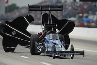 Apr. 29, 2012; Baytown, TX, USA: NHRA top fuel dragster driver J.R. Todd during the Spring Nationals at Royal Purple Raceway. Mandatory Credit: Mark J. Rebilas-