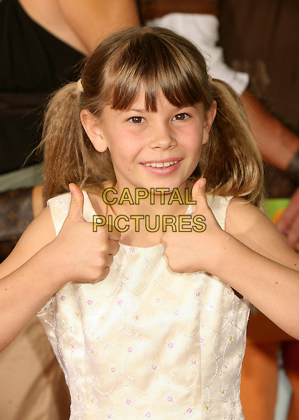 BINDI IRWIN.Nickelodeon's 20th Annual Kids' Choice Awards at UCLA's Pauley Pavilion, Westwood, California , USA,  .31 March 2007..half length thumbs up fringe.CAP/ADM/BP.©Byron Purvis/AdMedia/Capital Pictures.