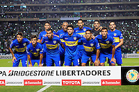 PALMIRA -COLOMBIA-24-02-2016. Jugadores de Boca posan para una foto previo al encuentro entre Deportivo Cali (COL) y Boca Juniors (ARG) por la fecha 1, G3, de la Copa Bridgestone Libertadores 2016 jugado en el estadio Palmaseca de la ciudad de Palmira./ Players of Boca pose to a photo prior the match between Deportivo Cali (COL) and Boca Juniors (ARG) for the date 1, G3, of the Copa Bridgestone Libertadores 2016 played at Palmaseca stadium in Palmira city.  Photo: VizzorImage/ NR /Cont