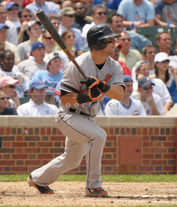 BRIAN ROBERTS, of the Baltimore Orioles , in action against the Chicago Cubs  during the Orioles game on June 26, 2008 in Chicago, IL. The Orioles won the game11-4.
