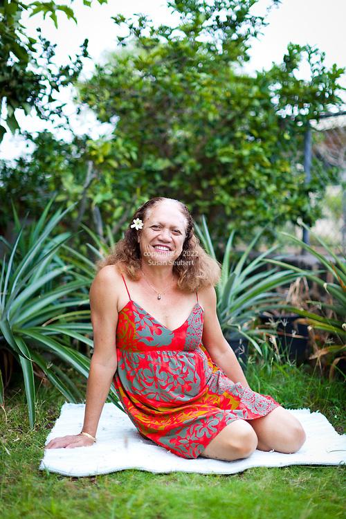 "Evaline ""Tuti"" Sanborn was born on the island of Ni'ihau and now lives on Oahu, working as a Hawaiian language teacher"