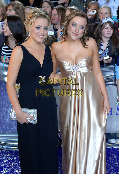CONNIE & CASSIE POWNEY.Arrivals at The British Soap Awards, .BBC Television Centre, Wood Lane, .London, England, May 20th 2006..half length twins sisters gold black dress.Ref: FIN.www.capitalpictures.com.sales@capitalpictures.com.©Steve Finn/Capital Pictures.