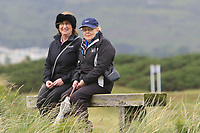 Two Ladies watching the play at the 6th tee during Matchplay Semi-Finals of the Women's Amateur Championship at Royal County Down Golf Club in Newcastle Co. Down on Saturday 15th June 2019.<br /> Picture:  Thos Caffrey / www.golffile.ie