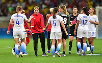 Belo Horizonte, Brazil - Saturday, August 6, 2016: The USWNT defeat France 1-0 in Group G play during the 2016 Olympics at Mineirão stadium.