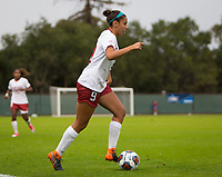 STANFORD, CA - November 23, 2018: Tegan McGrady at Laird Q. Cagan Stadium. The top seeded Stanford Cardinal defeated the Tennessee Volunteers 2-0 in the Quarterfinal of the NCAA tournament.