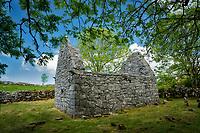 Ruins of ancient Temple Cronan. The Burren, County Clare, Ireland