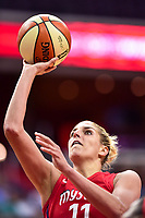 Washington, DC - July 13, 2018: Washington Mystics guard Elena Delle Donne (11) goes up for a lay up during game between the Washington Mystics and Chicago Sky at the Capital One Arena in Washington, DC. The Mystics defeat the Sky 88-72 (Photo by Phil Peters/Media Images International)