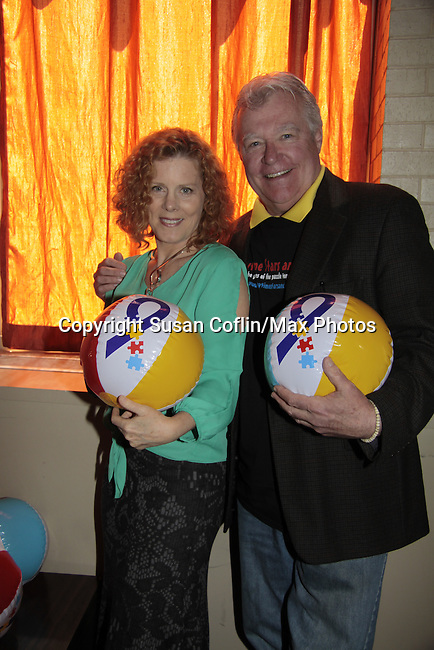 Liz Keifer - Jerry verDorn - Autism - 11th Annual Daytime Stars & Strikes Event for Autism - 2015 on April 19, 2015 hosted by Guiding Light's Jerry ver Dorn (& OLTL) and Liz Keifer at Bowlmor Lanes Times Square, New York City, New York. (Photos by Sue Coflin/Max Photos)