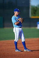 AZL Royals third baseman Jimmy Govern (8) during an Arizona League game against the AZL Brewers Blue at Surprise Stadium on June 18, 2019 in Surprise, Arizona. AZL Royals defeated AZL Brewers Blue 12-7. (Zachary Lucy/Four Seam Images)