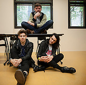 Apr 26, 2014: KLAXONS - Photosession in Paris France