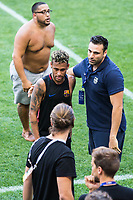 HARRISON, EUA, 21.07.2017 - BARCELONA-JUVENTUS -  Neymar Jr. do Barcelona após invasão de torcedor durante treino um dia antes da partida contra a Juventus pela International Champions Cup na Red Bull Arena na cidade de Harrison nos Estados Unidos nesta sexta-feira, 21. (Foto: William Volcov/Brazil Photo Press)