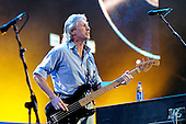 Pink Floyd - bassist Roger Waters - performing live for the first time in 20 years with his former bandmates in concert at the Live 8 concert in Hyde Park, London UK - 02 July 2005.  Photo credit: George Chin/IconicPix