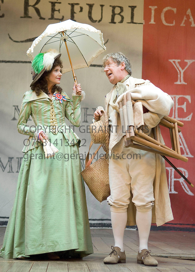 Liberty directed by Guy Retallack. . With Belinda Lang as Louise,John Bett as Maurice. Opens at Shakeapeare's Globe Theatre on 3/9/08 CREDIT Geraint Lewis