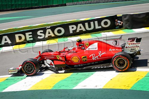 10th November 2017, Autodromo Jose Carlos Pace, Sao Paolo, Brazil; F1 Grand Prix of Brazil, Free practise sessions; 7 Kimi Raikkonen (FIN, Scuderia Ferrari), Sao Paulo Brazil
