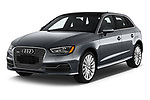 2016 Audi A3  Sportback e tron 1.4T S tronic Premium Plus  5 Door Hatchback angular front stock photos of front three quarter view