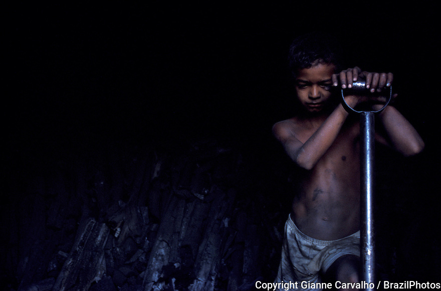 Child labor in charcoal production, Mato Grosso do Sul State, Brazil - several pig-iron smelters have been set up in the country to process iron for export, mainly to the European Community. These rely on charcoal production, specially from native woods, to fuel them.