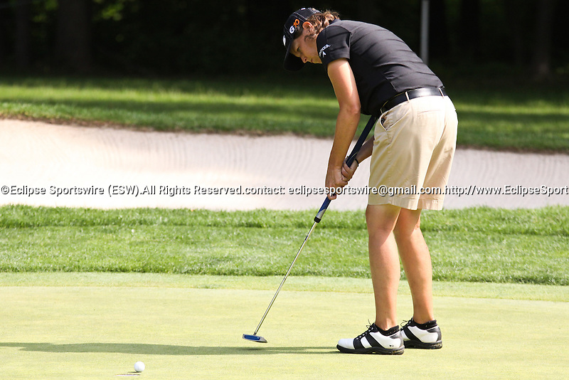 Wendy Ward watched the ball dropped on the 4th hole at Wegmans LPGA in Rochester, NY.