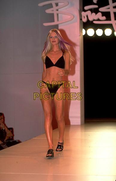 LIZ BERRIMAN.Ref: JM6416.full length catwalk bikini underwear knickers bra.www.capitalpictures.com.sales@capitalpictures.com.©James McCauley/Capital Picturesc