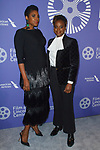 Sarah M. Broom and Dee Rees arrive at the Film at Lincoln Center's 50th Anniversary Gala on Monday April 29, 2019; in Alice Tully Hall at 1941 Broadway in New York, NY.