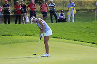 Lexi Thompson (USA) putts on the 12th green during Friday's Round 2 of The Evian Championship 2018, held at the Evian Resort Golf Club, Evian-les-Bains, France. 14th September 2018.<br /> Picture: Eoin Clarke | Golffile<br /> <br /> <br /> All photos usage must carry mandatory copyright credit (&copy; Golffile | Eoin Clarke)