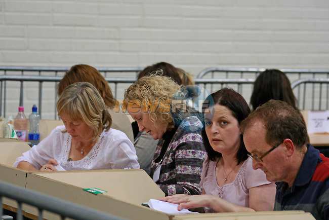 Counting goes on at the Count Centre for the Presidential Election at the GAA Club Trim, Co.Meath, Friday 28th October 2011 (Photo by Eoin Clarke/NEWSFILE)