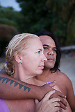FRENCH POLYNESIA, Moorea. Portrait of Laurel and James Samuela.