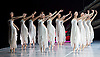 National Ballet of China <br /> The Peony Pavillion <br /> at Sadler's Wells, London, Great Britain <br /> press photocall / rehearsal <br /> 29th November 2016 <br /> <br /> corps de ballet <br /> <br /> <br /> Photograph by Elliott Franks <br /> Image licensed to Elliott Franks Photography Services