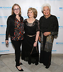 """Nicole Fosse, Victoria Traube and Joy Abbott during The """"Mr. Abbott"""" Award 2019 at The Metropolitan Club on 3/25/2019 in New York City."""