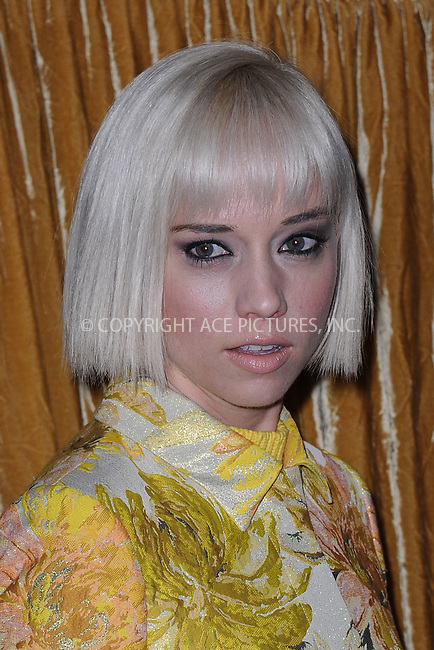 WWW.ACEPIXS.COM<br /> February 16, 2015 New York City<br /> <br /> Caitlin Moe at the alice + olivia by Stacey Bendet fashion presentation on February 16, 2015 in New York City. <br /> <br /> By Line: Kristin Callahan/ACE Pictures<br /> ACE Pictures, Inc.<br /> tel: 646 769 0430<br /> Email: info@acepixs.com<br /> www.acepixs.com