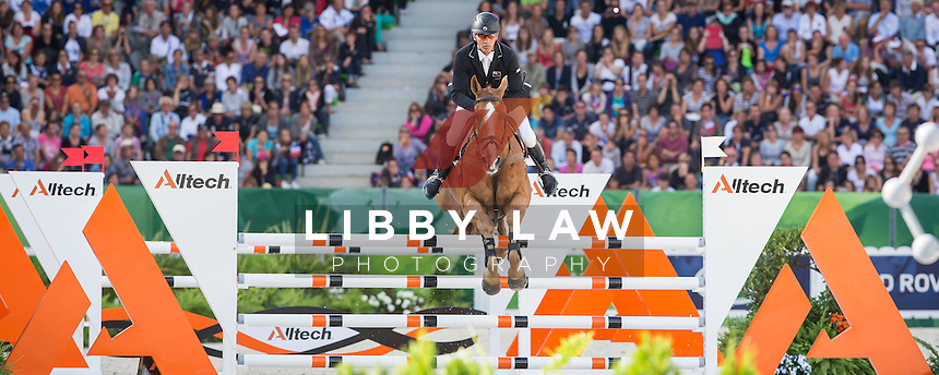 NZL-Andrew Nicholson (NEREO) FINAL-9TH: EVENTING-SHOWJUMPING: The Alltech FEI World Equestrian Games 2014 In Normandy - France (Sunday 31 August) CREDIT: Libby Law COPYRIGHT: LIBBY LAW PHOTOGRAPHY - NZL