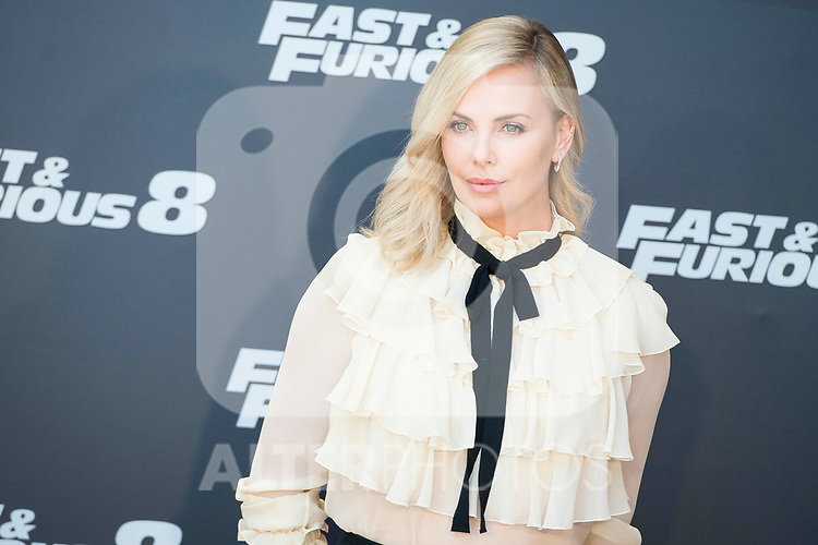 Charlize Theron during the presentation of the film &quot;Fast &amp; Furious 8&quot; at Hotel Villa Magna in Madrid, April 06, 2017. Spain.<br /> (ALTERPHOTOS/BorjaB.Hojas)