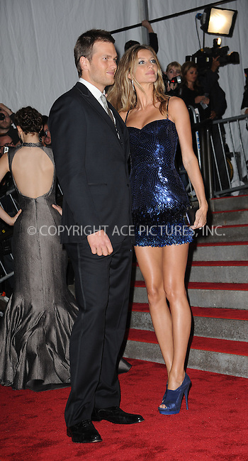WWW.ACEPIXS.COM . . . . . ....May 4 2009, New York City....Gisele Bundchen and Tom Brady arriving at 'The Model as Muse: Embodying Fashion' Costume Institute Gala at The Metropolitan Museum of Art on May 4, 2009 in New York City.....Please byline: KRISTIN CALLAHAN - ACEPIXS.COM.. . . . . . ..Ace Pictures, Inc:  ..tel: (212) 243 8787 or (646) 769 0430..e-mail: info@acepixs.com..web: http://www.acepixs.com