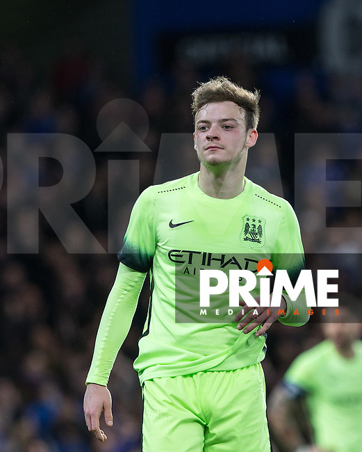 Brandon Barker of Man City during the FA Cup 5th round match between Chelsea and Manchester City at Stamford Bridge, London, England on 21 February 2016. Photo by Andy Rowland.