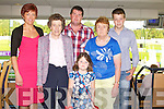 BIRTHDAY FUN: Kathleen Ambrose, Athea, Limerick celebrating her 40th birthday with family and friends at the Kingdom Greyhound Stadium on Friday l-r: Kathleen Ambrose, Bridget Mulvihill and Declan, Niamh, Bridget and Micheal Ambrose.
