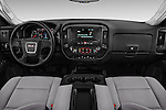 Stock photo of straight dashboard view of 2016 GMC Sierra-2500HD 2WD-Double-Cab-Long-Box 4 Door Pick-up Dashboard